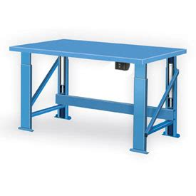 electrical work benches work bench systems adjustable height electric