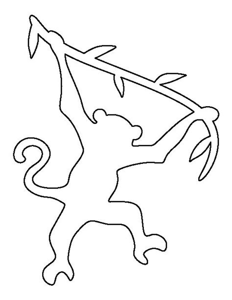 Outline Of A Monkey by Best 20 Monkey Template Ideas On