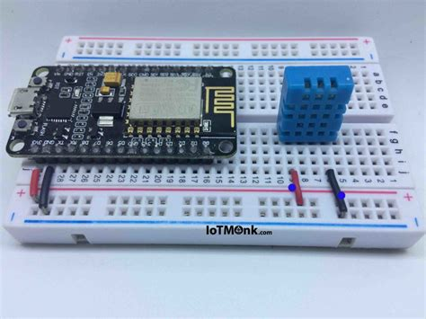 Dht11 Sensor Temperature And Humidity With Breadboard setting up breadboard for displaying dht11 data from nodemcu on html webpage