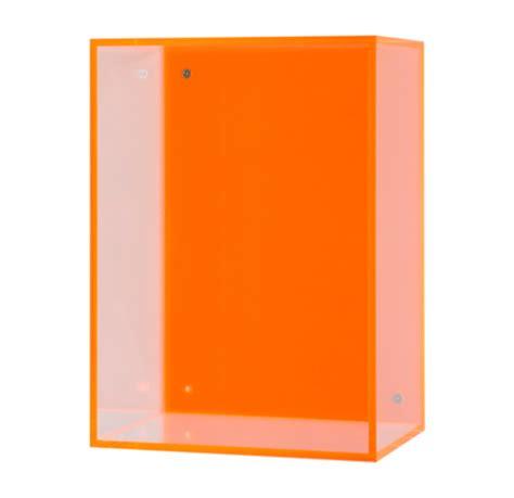 Lu Neon Box Neon Hanging Acrylic Box Orange Gold Leaf Design Luxe Home Philadelphia