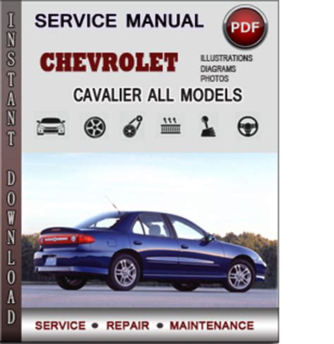chevrolet cavalier service repair manual download info service manuals