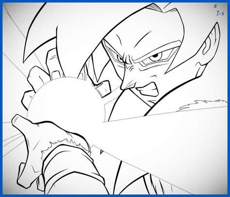 imagenes de goku haciendo el kamehameha para dibujar los mejores dibujos de dragon ball z para colorear de goku