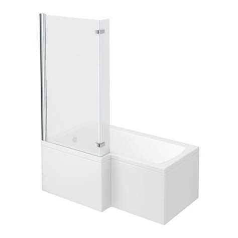 l shaped shower bath with hinged screen milan shower bath 1500mm l shaped with hinged screen panel