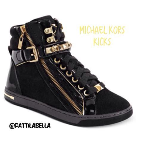 40 michael kors shoes mk black gold sneakers nwt