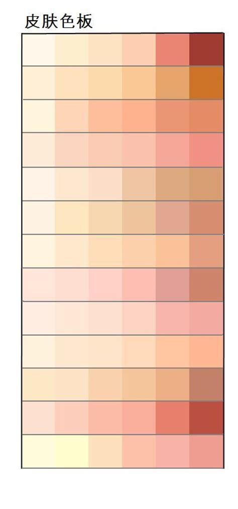 25 best ideas about skin color palette on