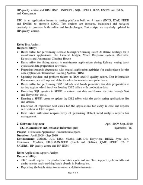 Mainframe Cobol Programmer Cover Letter by Mainframe Developer Resume Exles Resume Ideas