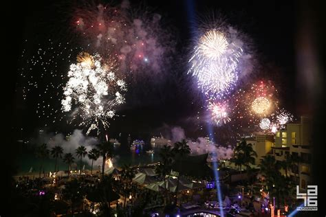 fireworks for new year celebrations in cabo san lucas