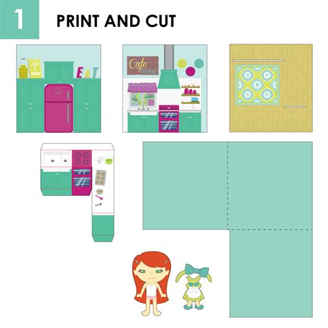 House Designer Software pop up book and paper doll set craft remedy