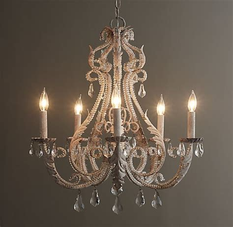 Palais Large Chandelier Rustic White Large White Chandelier
