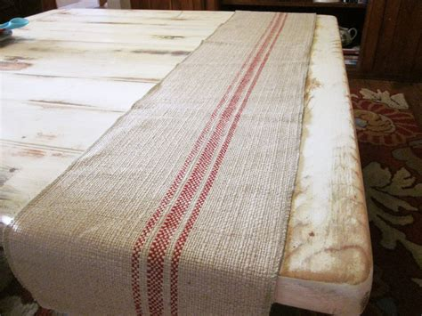 country table runner woven cotton linen and
