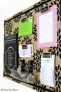 Decorative Cork Bulletin Board Getting Organized Diy Burlap Bulletin Board Driven By Decor