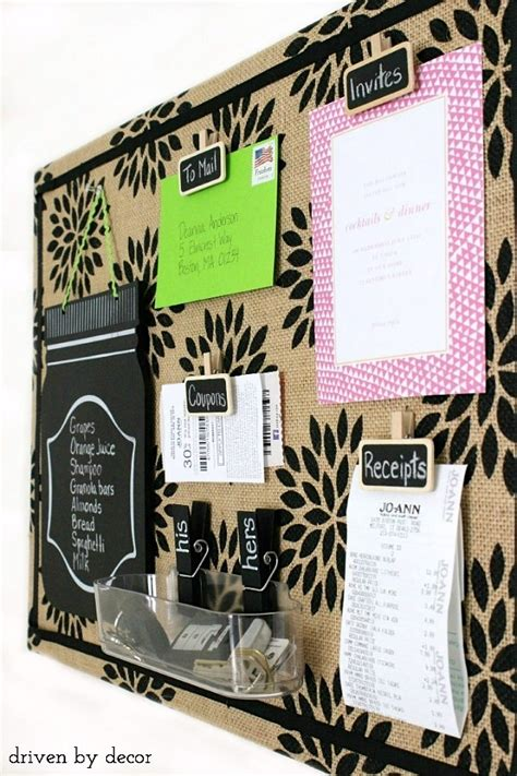 The Home Decorating Company Coupons by Getting Organized Diy Burlap Bulletin Board Driven By Decor