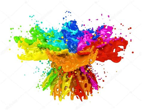 what does the color run support colorful paint splashing isolated on white stock photo