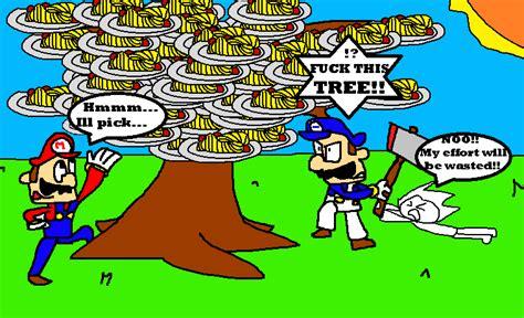 mario tree mario glitchy 4 a spaghetti tree by flowerbruh on