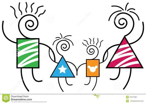 Imagenes Abstractas De La Familia | familia abstracta ilustraci 243 n del vector imagen de