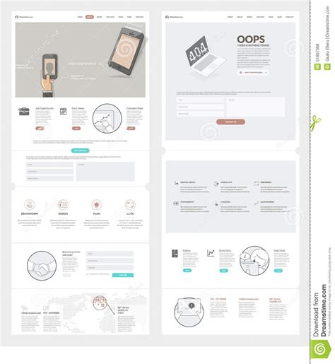 company portfolio template doc website templates elements for company portfolio vector
