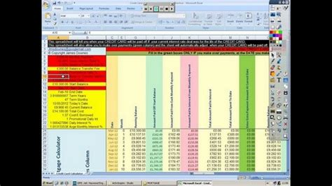 credit card debt spreadsheet excel spreadsheets