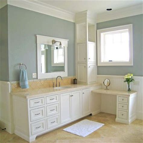 gray blue paint with neutral travertine bathroom paint colors colors for