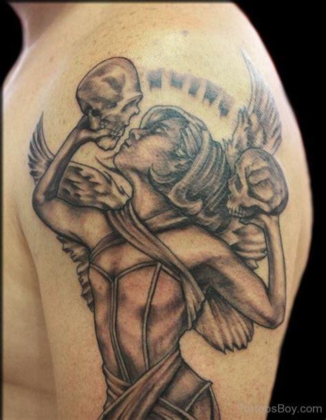 tattoo angel skull shoulder tattoos tattoo designs tattoo pictures page 73
