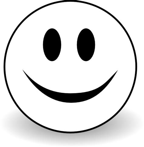 black and white smiley face clip art smiley b and w clip art at clker com vector clip art