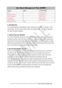 site waste management plan swmp hashdoc