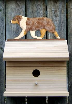 australian shepherd house dog australian shepherd hand painted dog bird house red merle