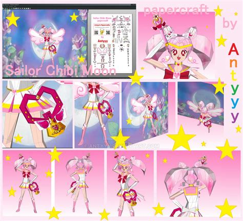 Sailor Moon Papercraft - sailor chibi moon papercraft by antyyy on deviantart