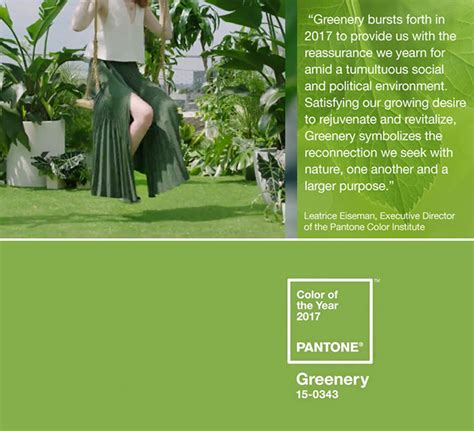 pantone color of the year 2017 announcement trend scout inspired by quot greenery quot pantone color of the