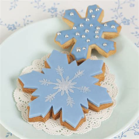 1639 Set 2in1 sk winter small snowflake cookie cutter squires kitchen shop