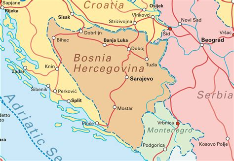 bosnia map mapa de sarajevo