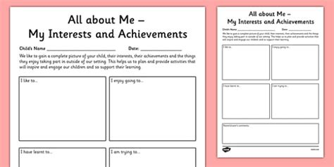 Parent And Child Review Of Interests And Achievements At Home Letter To Template Eyfs