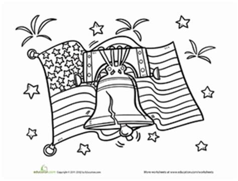 patriotic coloring pages preschool liberty bell worksheet education com