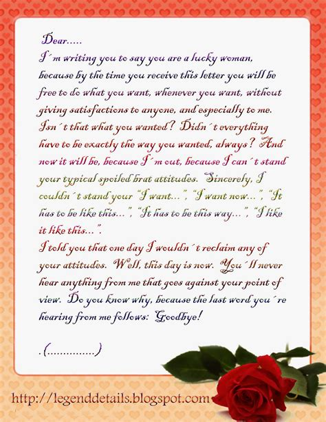 Emotional Letter To After Breakup