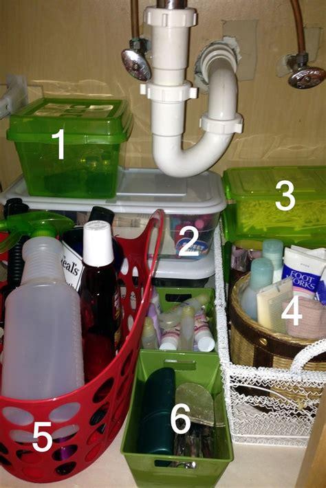 organize under the bathroom sink 45 best images about under sink storage on pinterest