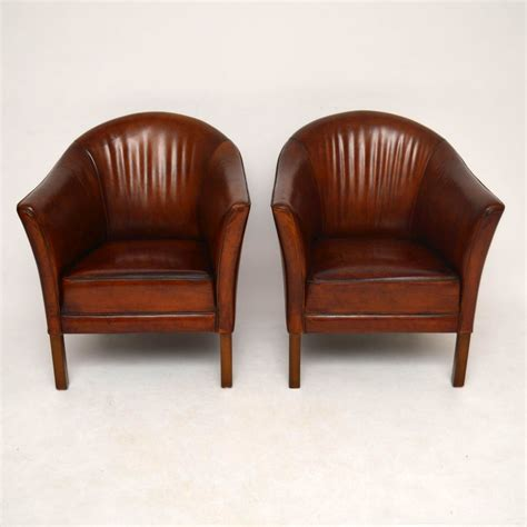 tub armchairs uk pair of swedish antique leather tub armchairs marylebone
