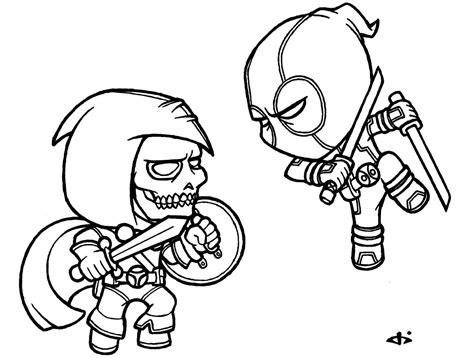 11 images of chibi deadpool coloring pages deadpool