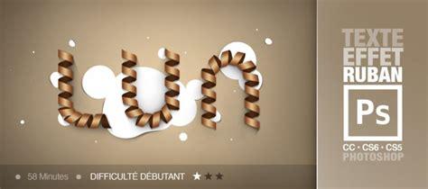 Effet Eclairage Photoshop by Tuto Texte Photoshop Avec Un Effet Ruban Avec Photoshop