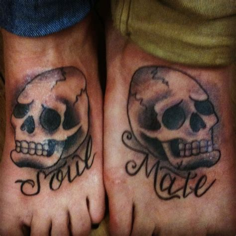 skull tattoo soulmate couples tattoo lizreyesliz gmail
