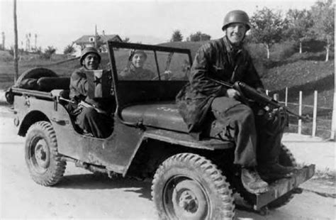 German Jeep German Paratroopers Captured American Willys Jeep