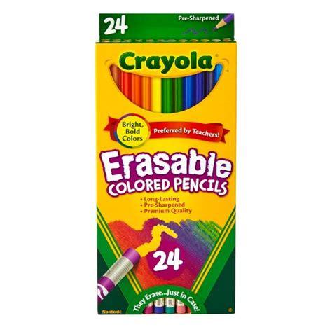 crayola erasable colored pencils crayola 174 erasable colored pencils 24ct multic target