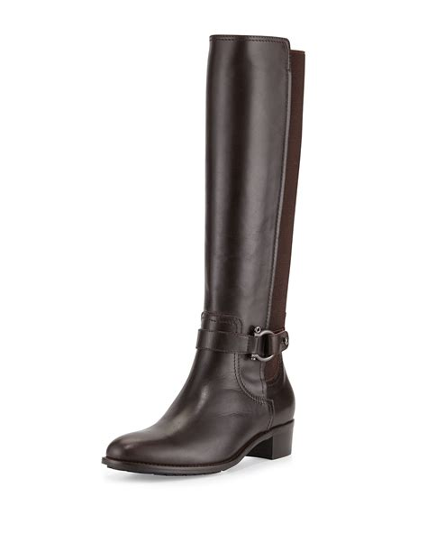 aquatalia by marvin k odina leather stretch back boot in