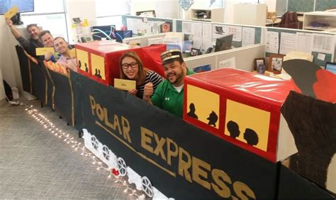 office decorated in the polar express chicago s polar express axis communications office photo glassdoor au