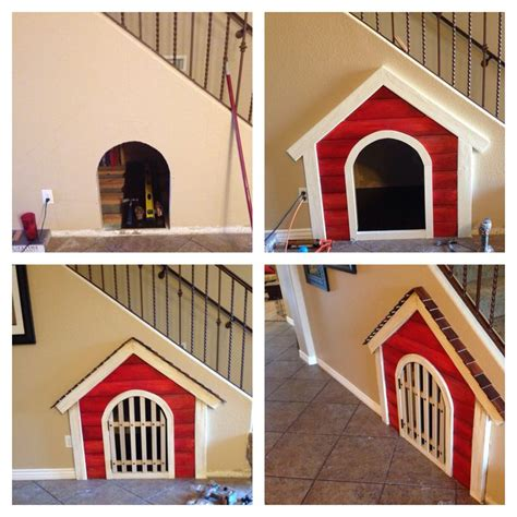 staircase dog house dog house under the stairs basset hounds pinterest