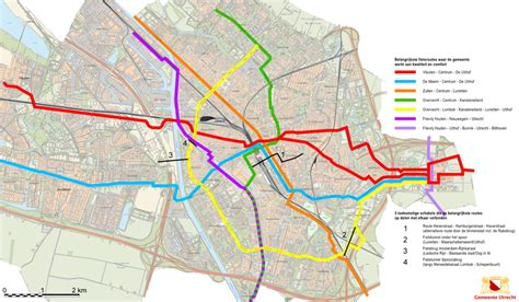 netherlands bicycle map cycle routes updated in utrecht bicycle