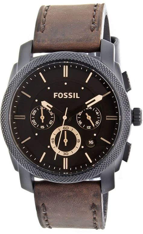 fossil s fs4656 leather crocodile analog with brown