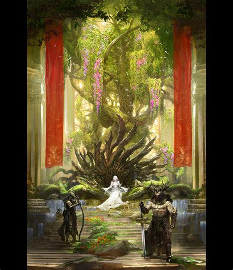 concept art fantasy illustrations photoshopcoolvibe digital art fantasy the green throne 2d digital concept art