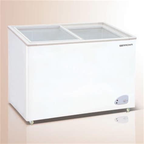 glass door chest freezer china curved glass door chest