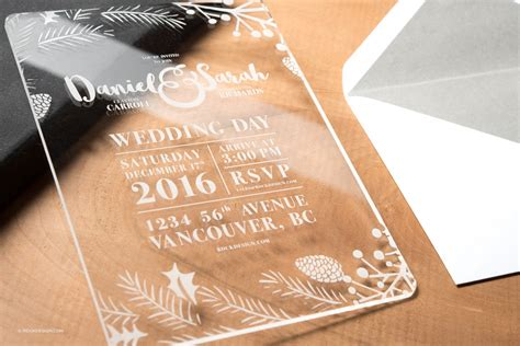 clear acrylic wedding invitation template daniel