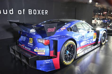 subaru car back subaru unwraps brz gt300 at the 2015 tokyo auto salon