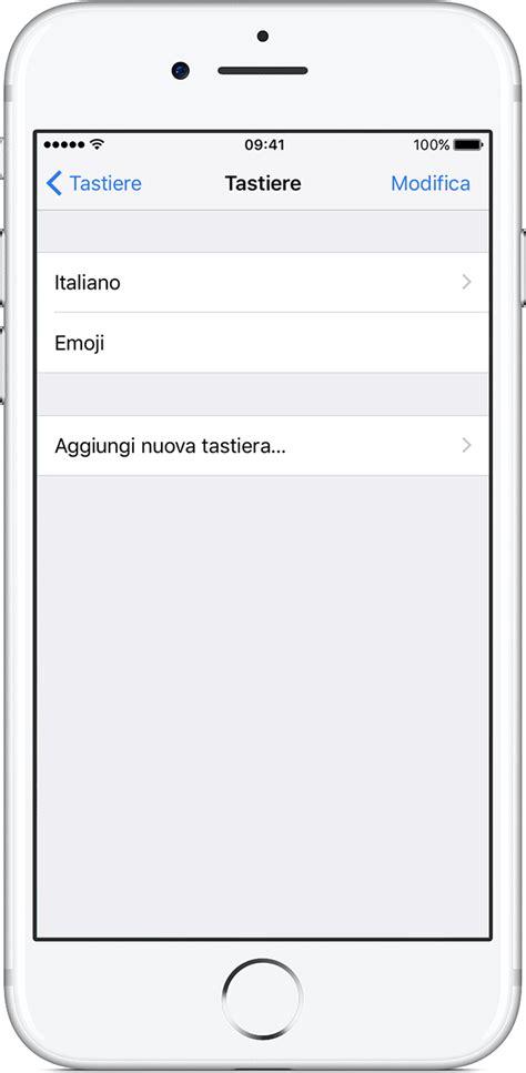 modificare layout iphone informazioni sulle tastiere di iphone ipad o ipod touch